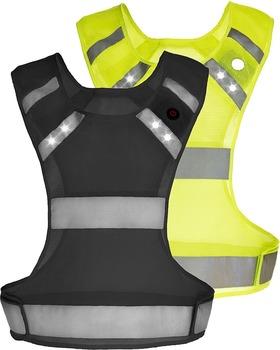 LED black reflective safety ethnic reflective jogging vest running vest 627240da091
