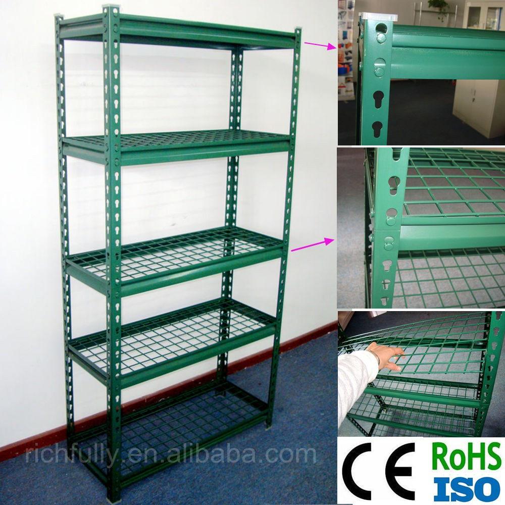 Low Prices 5 Layers Light Diy Slotted Storage Rack Angle Iron Rack ...