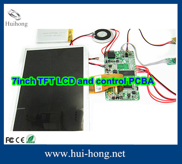 "7"" LCD voice module for greeting cards custom greeting card sound modul"