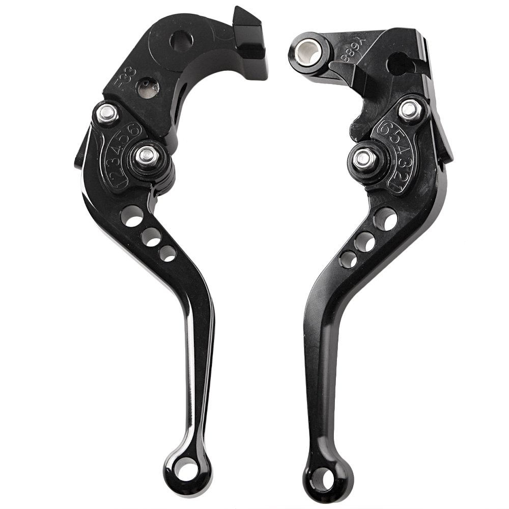 Mallofusa Racing Short Brake Clutch Levers Pair for Honda CBR600RR 2007-2016 / Honda CBR1000RR/FIREBLADE/SP 2008-2016 Black CNC Aluminum