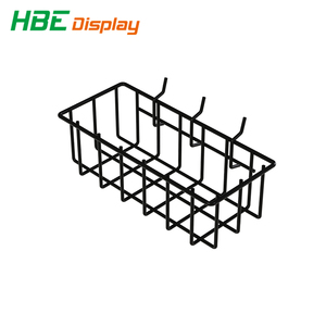 Pegboard Basket Black Vinyl Coated Wire Basket Kit