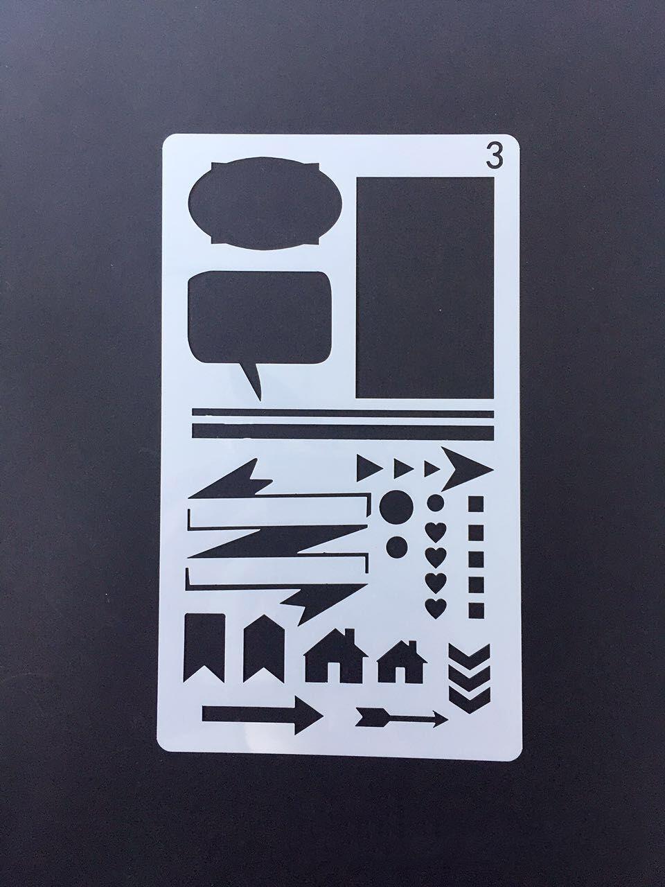 Faire Ses Pochoirs Soi Meme ensemble de pochoir journal amazon bullet 12 pièces planificateur en  plastique modèle de dessin À faire soi-même pour carnet de notes - buy