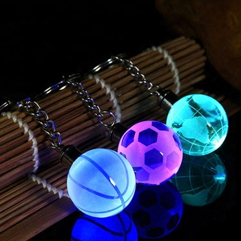 Personalized Keychain LED Crystal