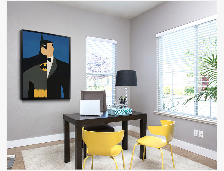 Super Héroes Pintura Arte Deco Simple Lindo Marcos Para Novio - Buy ...