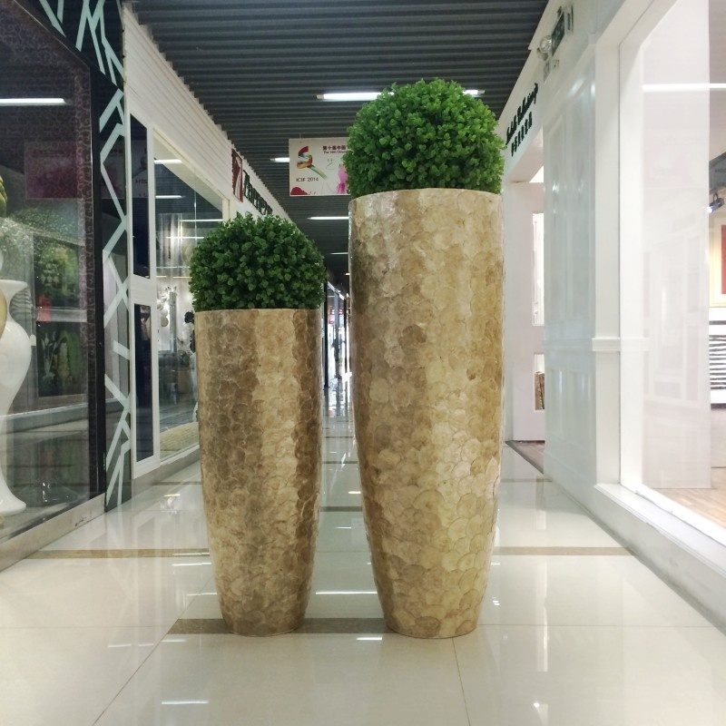Wholesale Wedding Large Floor Standing Silver Mirrored Mosaic Decorative Vase Contemporary Buy