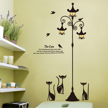 living room 3d removable wall sticker lamp - buy removable wall