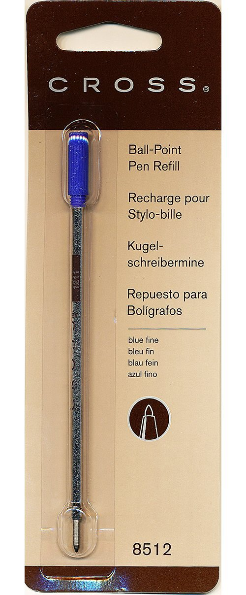 Cross Universal Ballpoint Pen Refills - Fine Point - Blue For Cross Ballpoint Pen 1 Each