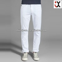 2017 fashion style mens white denim jeans (JX3124)