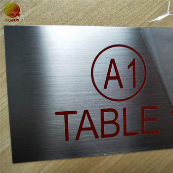 OEM chemical etched stainless steel nameplates