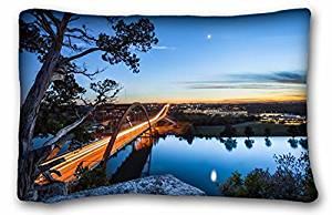 Generic Men's Landscapes bridge texas moon river evening USA austin USA 20*30 Inch