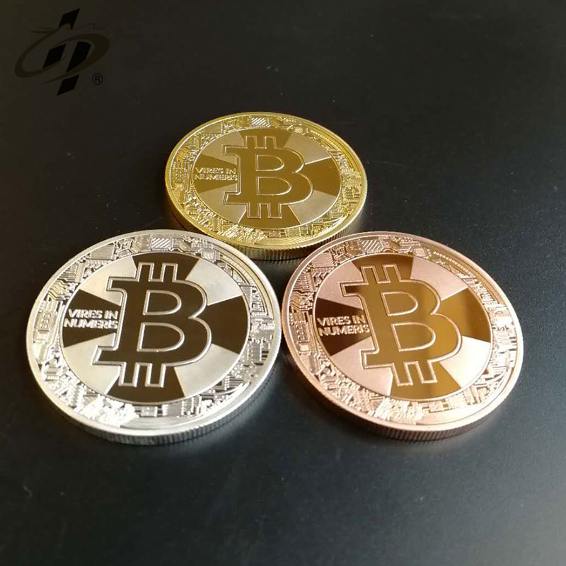 Exclusive customization stamping bitcoin gold silver brass  style gold make your own metal coins
