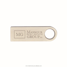 Hot selling usb 2.0 interface stainless steel material custom laser engraved logo 4GB metal mini size usb stick