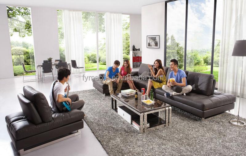 Gut Design Wohnzimmer Sofa Moderne Schwarze Liege Lounge Set