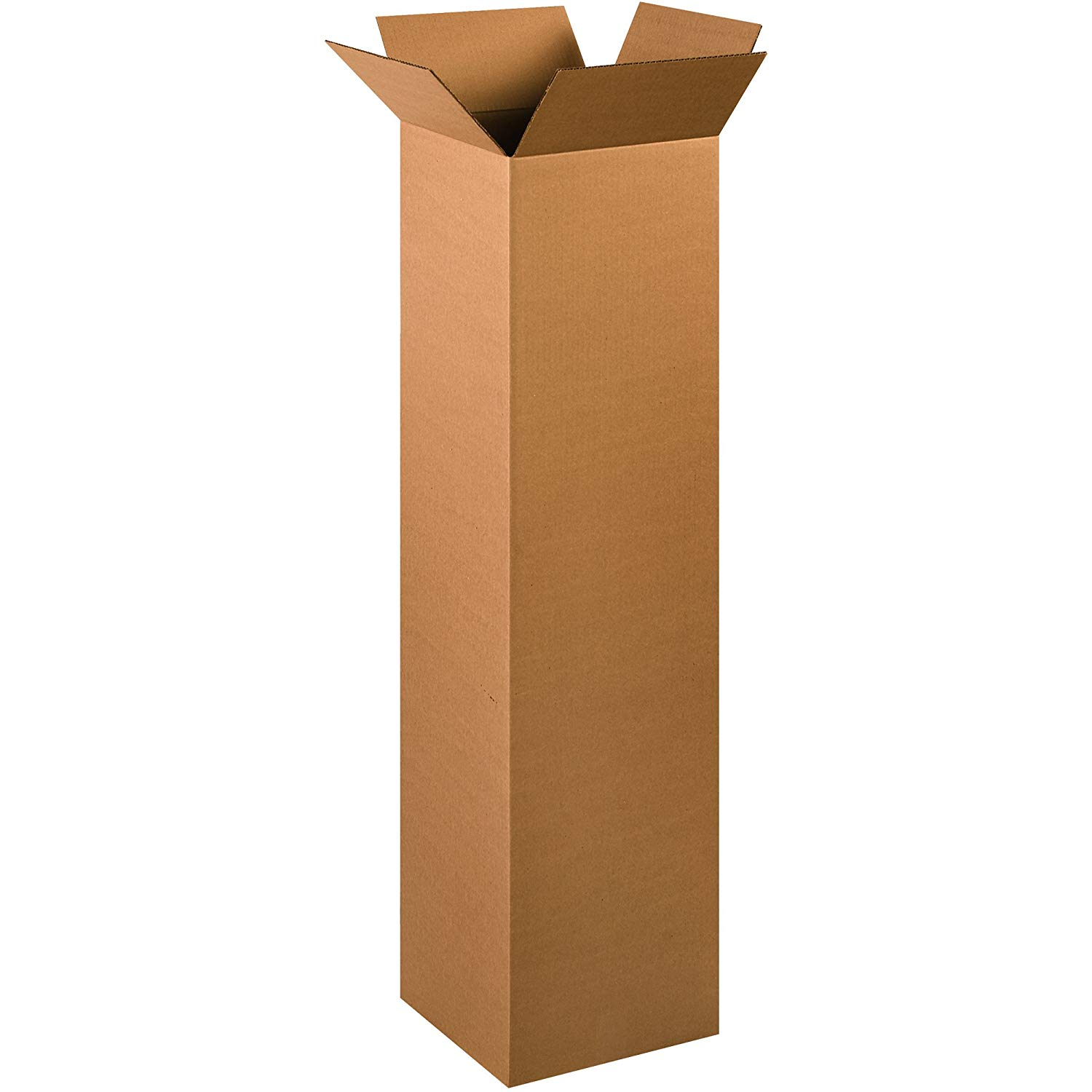 """Aviditi 121248MS Tall Moving boxes, 12""""L x 12""""W x 48""""H, 12"""" width, 48"""" Height, 12"""" Length, Kraft (Pack of 15)"""