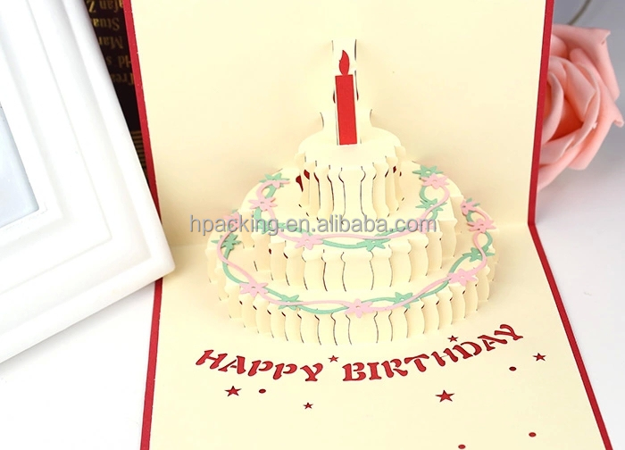 Birthday Cake 3d Pop Up Greeting Card Design Buy Birthday Cake