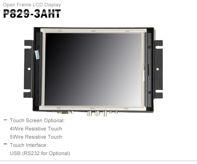 SEETEC 8 inch open frame touch screen monitor with HDMI VGA input