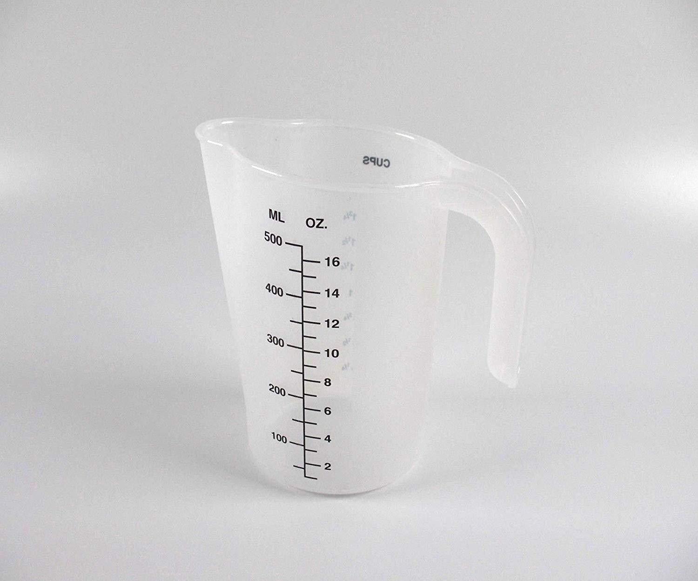 Excellent Classic Plastic Measuring Pitcher/Jug - 500ml-16Oz-2Cup