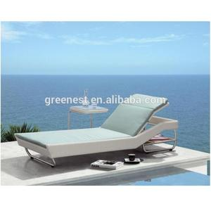 Newest waterproof outdoor furniture rattan modern sun loungers