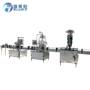 Linear Automatic Glass Bottle Filling Capping Machine / Crown Cap Sealing Machine