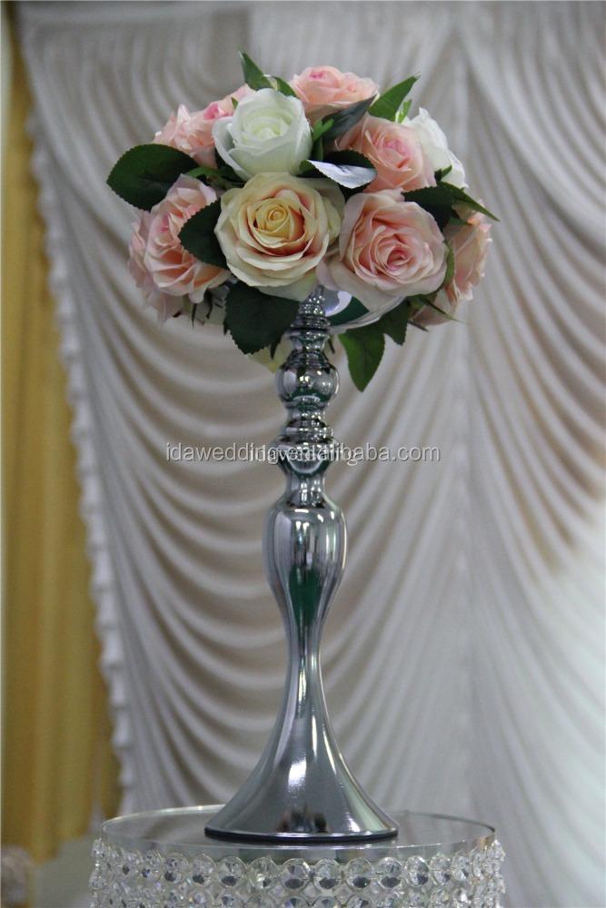 Gold Trumpet Vaseswedding Glass Vases Table Centerpieceshigh