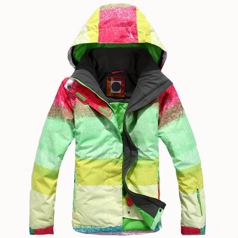2e29e7b26a Get Quotations · 2016 women winter sport wear skiing Jackets snowboad  clothes waterproof breathable thermal winter dress rainbow colors