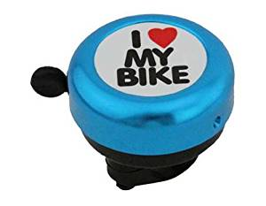 I Love My bicycle Bell Blue. for bicycle bell, bike bell, lowrider bikes, beach cruiser, limos, stretch bicycles, track, fixie
