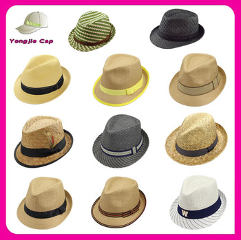 Multi Design Promotional High Quality Pork Pie Hats Men cheap trilby hats  fedora hat custom logo 8e53bc98127
