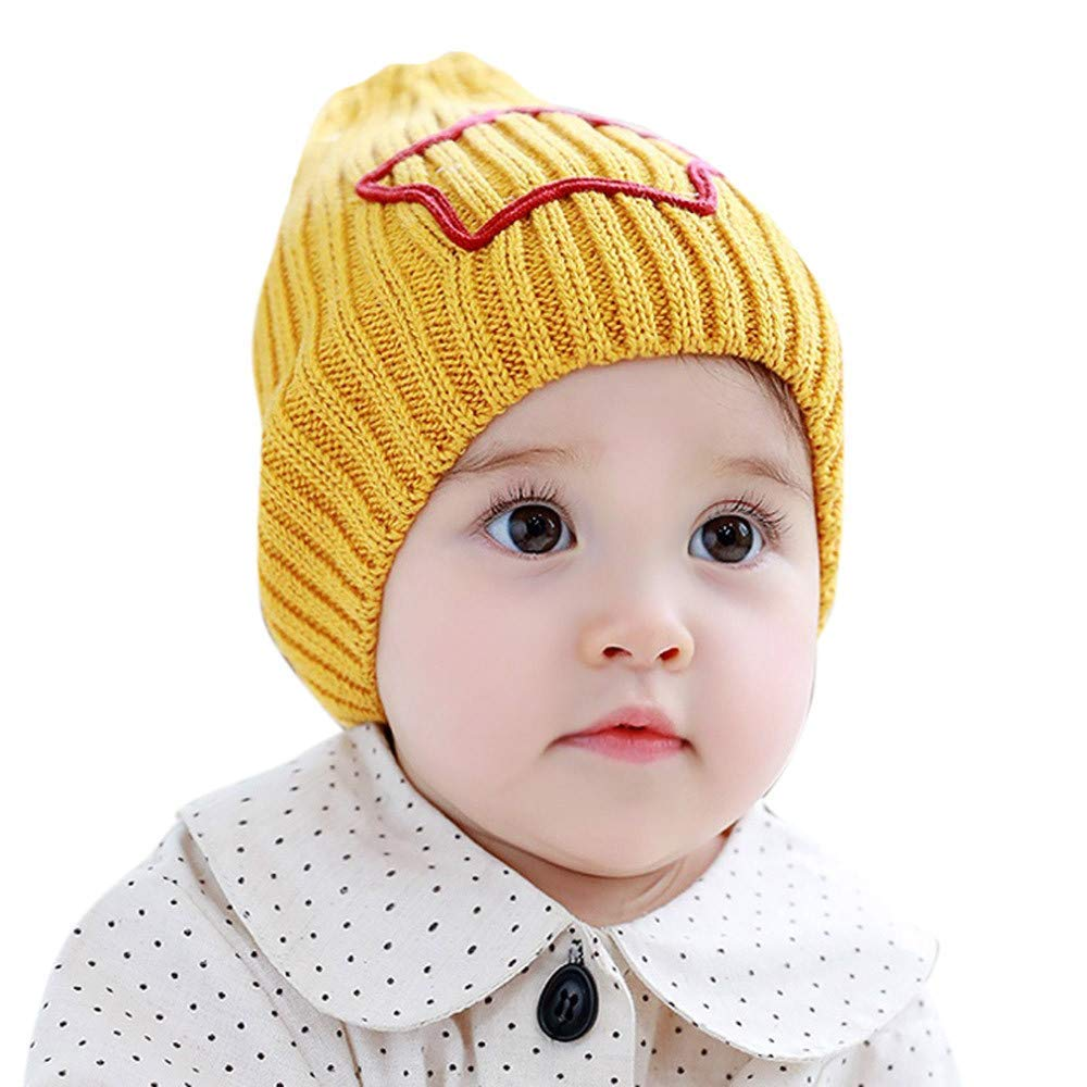 2bede916ee81f Get Quotations · Jshuang Knitted Butterfly Lace Baby Toddler Winter Beanie  Warm Hat Knitted Cap Kids