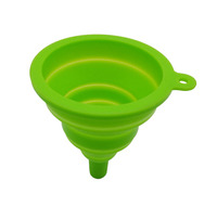 Kitchen Essential Foldable Silicone Oil Funnel,FDA Approved Silicone Funnel