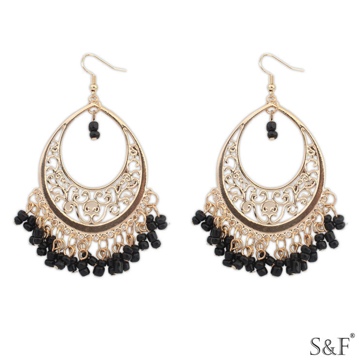 beautiful earrings designs and online buy fashion reeti rf pearl stone zoom hoop designers
