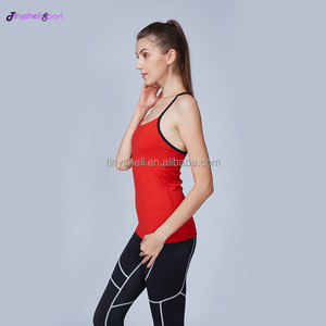 Guangzhou manufacturer high quality multi-color dryfit sports shirts sexy women yoga tank tops