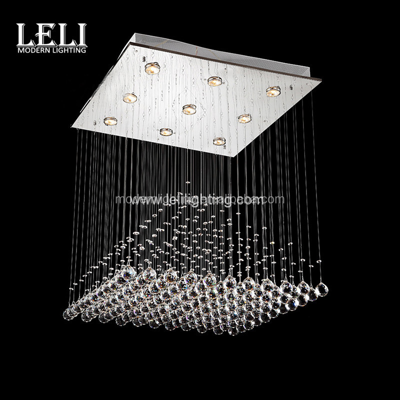 K9 large chandelier pendant lights for hotel silver finished crystal pendant lamp for stair case
