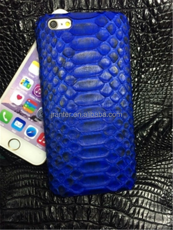 Authentic Python Leather for Iphone 6Plus Cover, Snakeskin Phone Case OEM