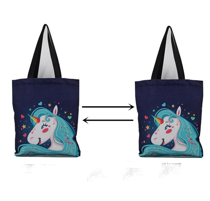 7da9753bb732 Women Shoulder Bags Female Canvas Tote Handbag Designer Cartoon Unicorn  Printed, View canvas tote bag, Alliance Product Details from Shanghai  Alliance ...