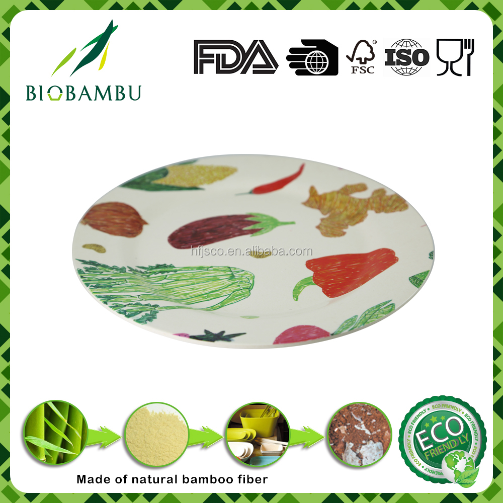 Factory selling bulk ECO friendly BIO bamboo serving plates