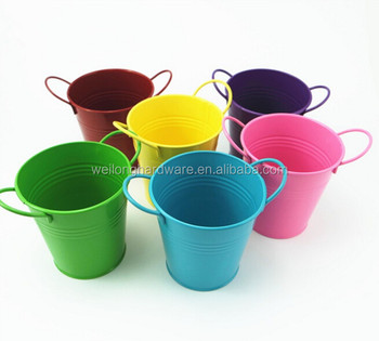 Eco Friendly Toy Bucket/Metal Small Garden Pot/ Zinc Flower Planter