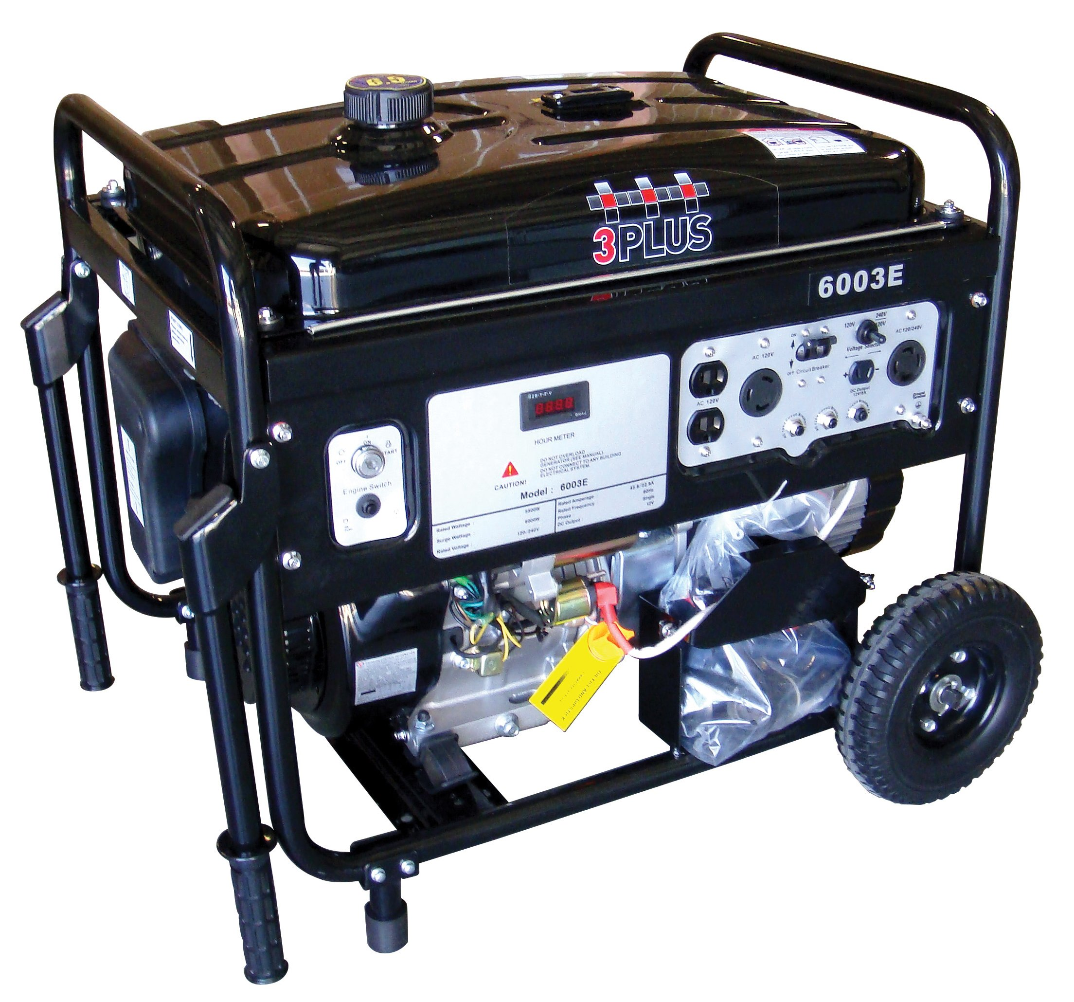 Get Quotations · 3PRO MGES6000 6000 Watt, 14HP, 4-Cycle OHV Portable Gas  Powered Generator