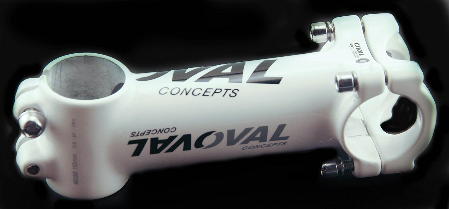 "Oval Concepts M200 110mm 1-1//8/"" Threadless Bike Stem 31.8mm Alloy White NEW"
