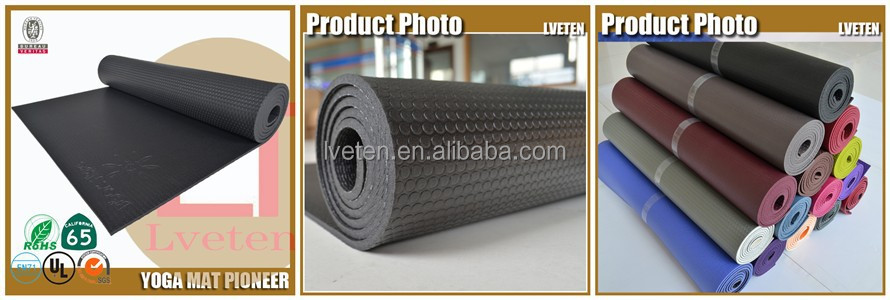 Round and Super large Size classic antislip rolled yoga mats,Square black yoga mats