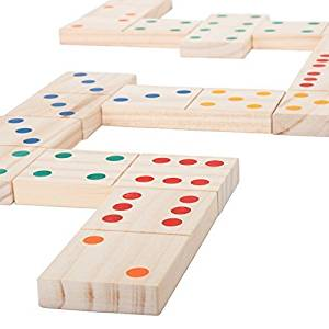 Hey! Play! Giant Wooden Dominoes Game Set (28 Piece)