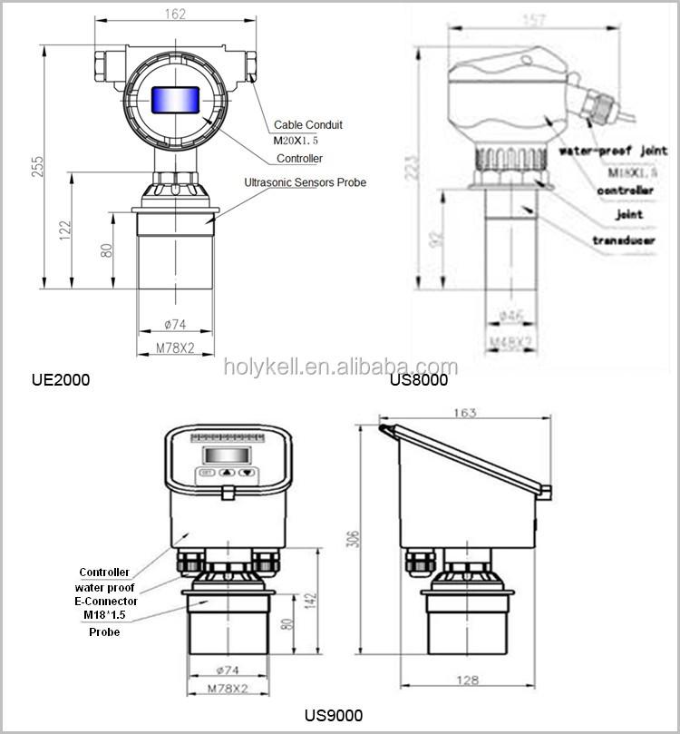 rs485 ultrasonic level range sensor ultrasonic remote