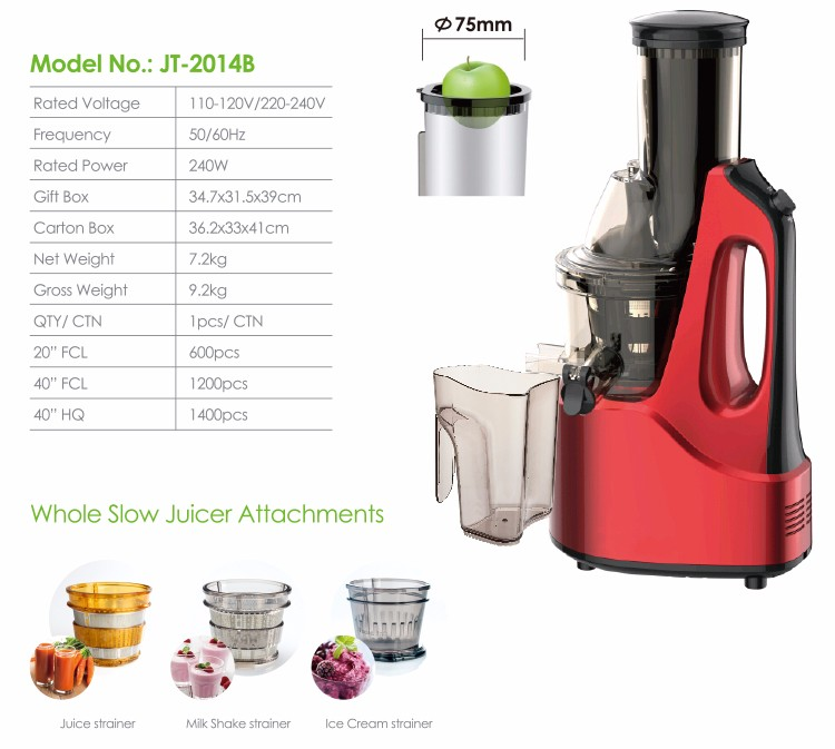 Hurom Slow Juicer Big Mouth : 2018 New Promotion Magic Bpa Free Big Mouth Low Noise Korea Hurom Electric Whole Fruit Slow ...