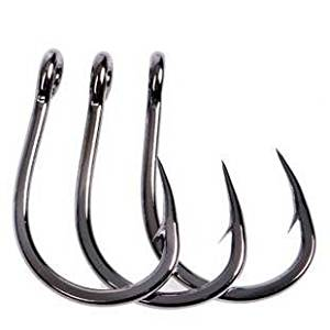 JL Sport Stainless Steel Live Bait Hook with In-Line Sharp Point for Catching More Bigger Fishes(2/0-7/0: 30pcs/pack 8/0: 25pcs/pack 9/0-10/0: 20pcs/pack 12/0: 10pcs/pack)