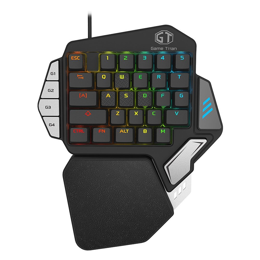 Color : 2 Zhengfangfang One-handed Gaming Keyboard USB Wired Keyboard Electronic Sports Player Keyboard Game Board 29-key LED Backligh