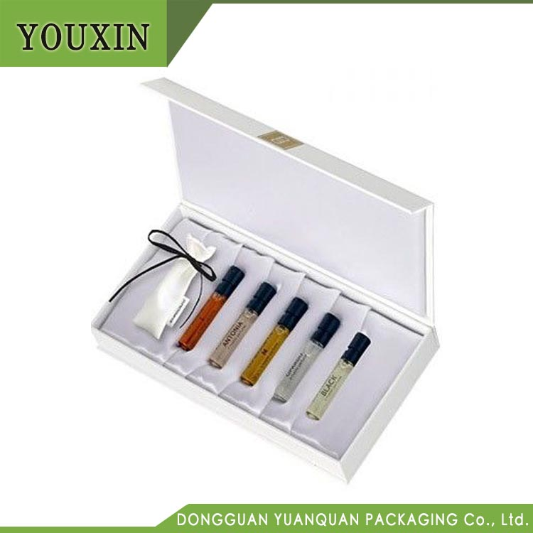 wholesale perfume sample gift boxes with magnetic closure