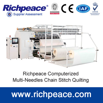 Computerized Multi-Needle Chainstitch For Mattress Bedcover and Quilt Making Machine