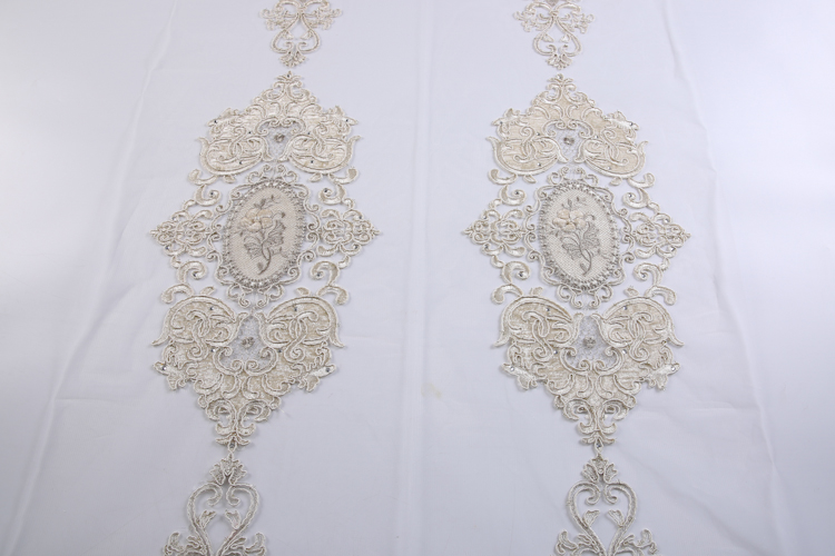 Products Supply Invisible Tulle Church Curtain, Made In China Embroidery Window Turkish Curtains Luxury/