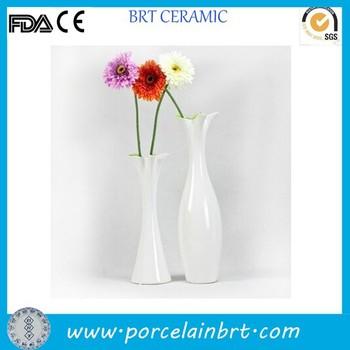 White Desk Decoration Long Flower Vase Single Flower Vase Wholesale