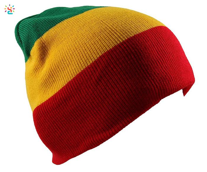 Gorro Rasta Jamaicano Multi-color A Rayas Slouchy Beanie Gorro ...