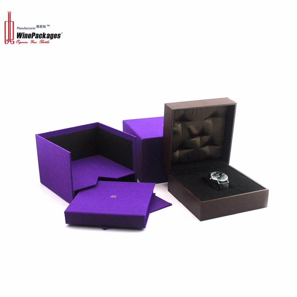 China Manufacturer Elegant Eco-friendly Leather Watch Box For Gift Boxes